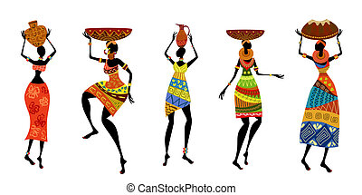 African women in traditional dress