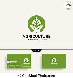 agriculture farm line badge vintage logo template vector illustration