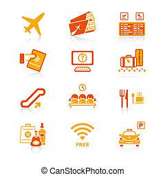 Airport icons | JUICY series