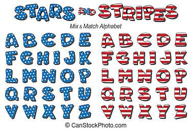 Alphabet, Stars and Stripes