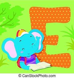 Alphabet Tile Elephant