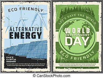 Alternative energy sources, World environment day