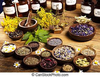 Alternative medicine, dried herbs