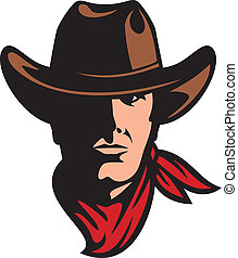 american cowboy head