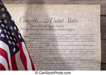 American Flag and the Bill of Rights