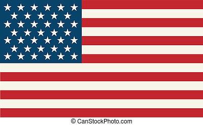 American Flag. Patriotic background. Vector illustration. EPS 10