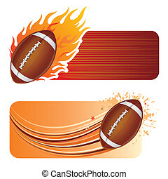 american football design element and flames