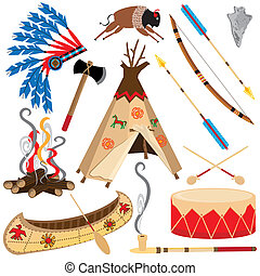 American Indian Clipart Icons