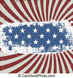 American patriotic background. Vintage style. Vector, EPS10