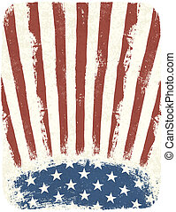 American patriotic poster background. Vintage style poster template, Vector, EPS10