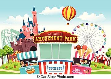 Amusement Park Illustration