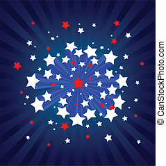 American starburst background