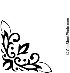 Background with the image it is black a white angular, classical pattern