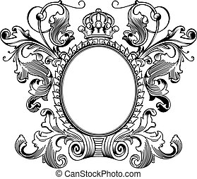Antique Frame Engraving, Scalable And Editable Vector Illustration