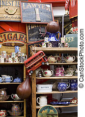 Collection of Items in a London's antique shop