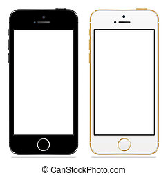 Apple iphone 5s black and white vector illustration eps 10