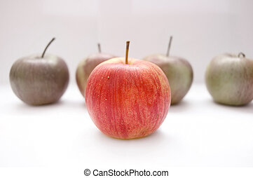 Apples conceptual image. Apples on isolated background.