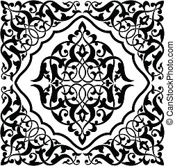 Arabesque swatch pattern. Each color can be changed easily.