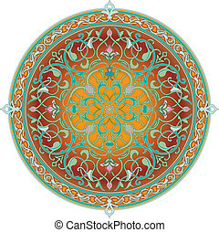 Arabic floral pattern motif Arabic floral pattern motif, based on Ottoman ornament