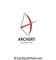 Archery logo icon vector ilustration template