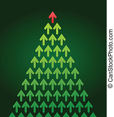 arrow Christmas tree, business theme