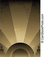 Art Deco Futurist style background design. Vector format and fully editable