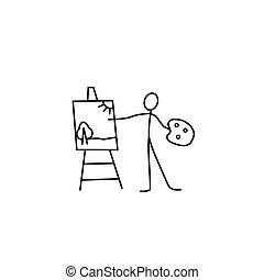 Artist stick figure