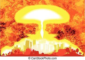 Atomic Bomb Heat Background