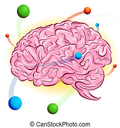 An image of a atomic brain.