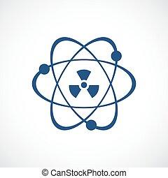 Atomic power vector icon on white background