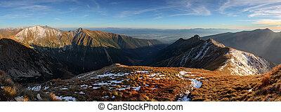 Autumn Panorama mountain - Tatras, Slovakia