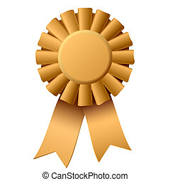 Vector illustration of an award ribbon