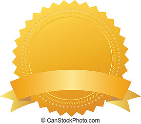 Blank award seal with ribbon, add your own text