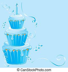 Baby Boy Birthday Cupcake