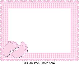 Baby Girl Gingham Frame