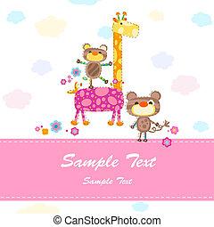 baby invitation card