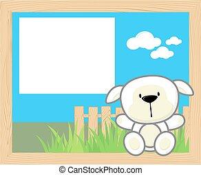 baby sheep frame