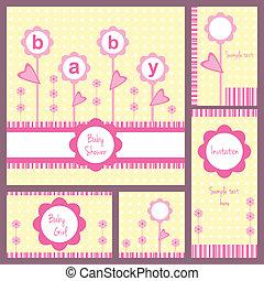 Baby shower card set