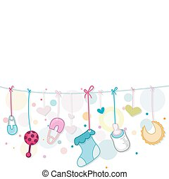 Illustration of Baby Related Items