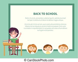Back to School, Schoolboy Raising Hand Poster