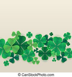 Background green leaves of clover