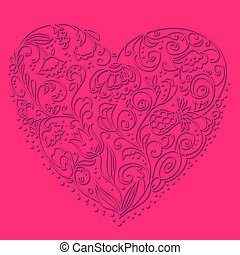 Background of floral heart