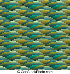 green abstract waves
