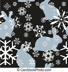 rabbits and snowflakes