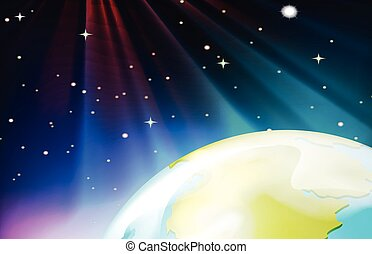 Background scene from outer space illustration