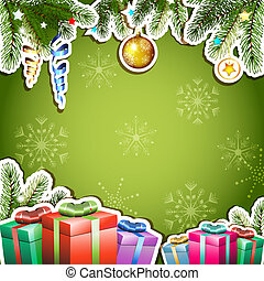 Background with Christmas gifts