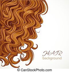 Background with curly brown hair