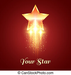 Background with glowing golden star