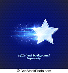 Background with glowing star