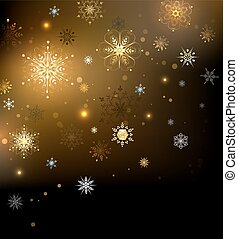 Background with gold snowflakes